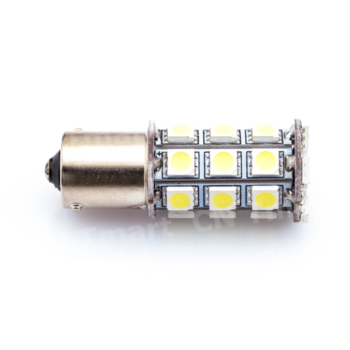 2x P21W BA15s 1156 5050 SMD 27 Led Car Light Source Auto Brake Reserse Turn Signal Lights Parking Lamps Bulb DC12V S25