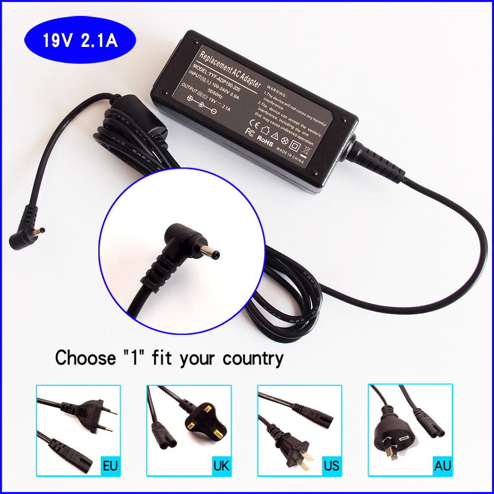 40W AC Adapter Power Supply For ASUS EEE PC 1001P 1001PX 1001PXB 1001PXD 1001PQD