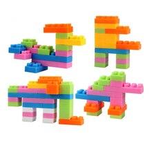 Reusable 96-Piece Plastic Kids Puzzle Educational Building Blocks Bricks Toys DIY Bloks Toy Set