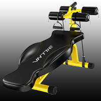 Yellow Sit Up Abdominal Exerciser Fitness Machines For Home