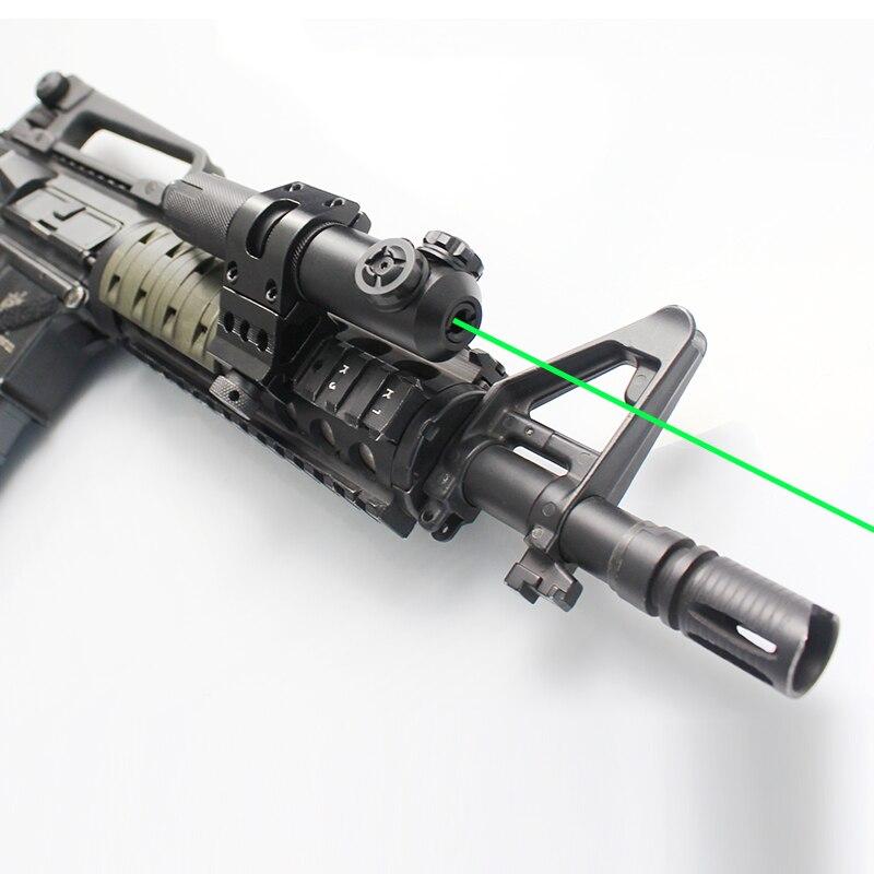 Fusil militaire IPX8 étanche longue Distance Laser vert vue armes tactiques pour ak 47 ar15 avec support de commutateur de sécurité