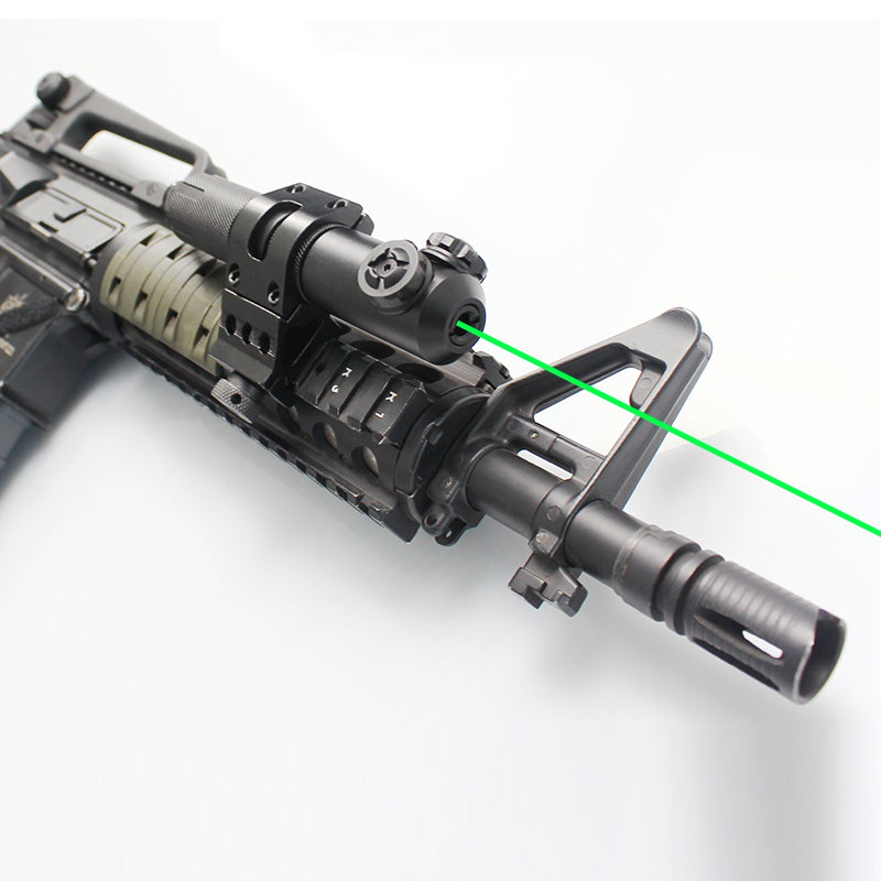 Military Rifle IPX8 Waterproof Long Distance Green Laser Sight Tactical Weapons for ak 47 ar15 with Rressure Switch Mount