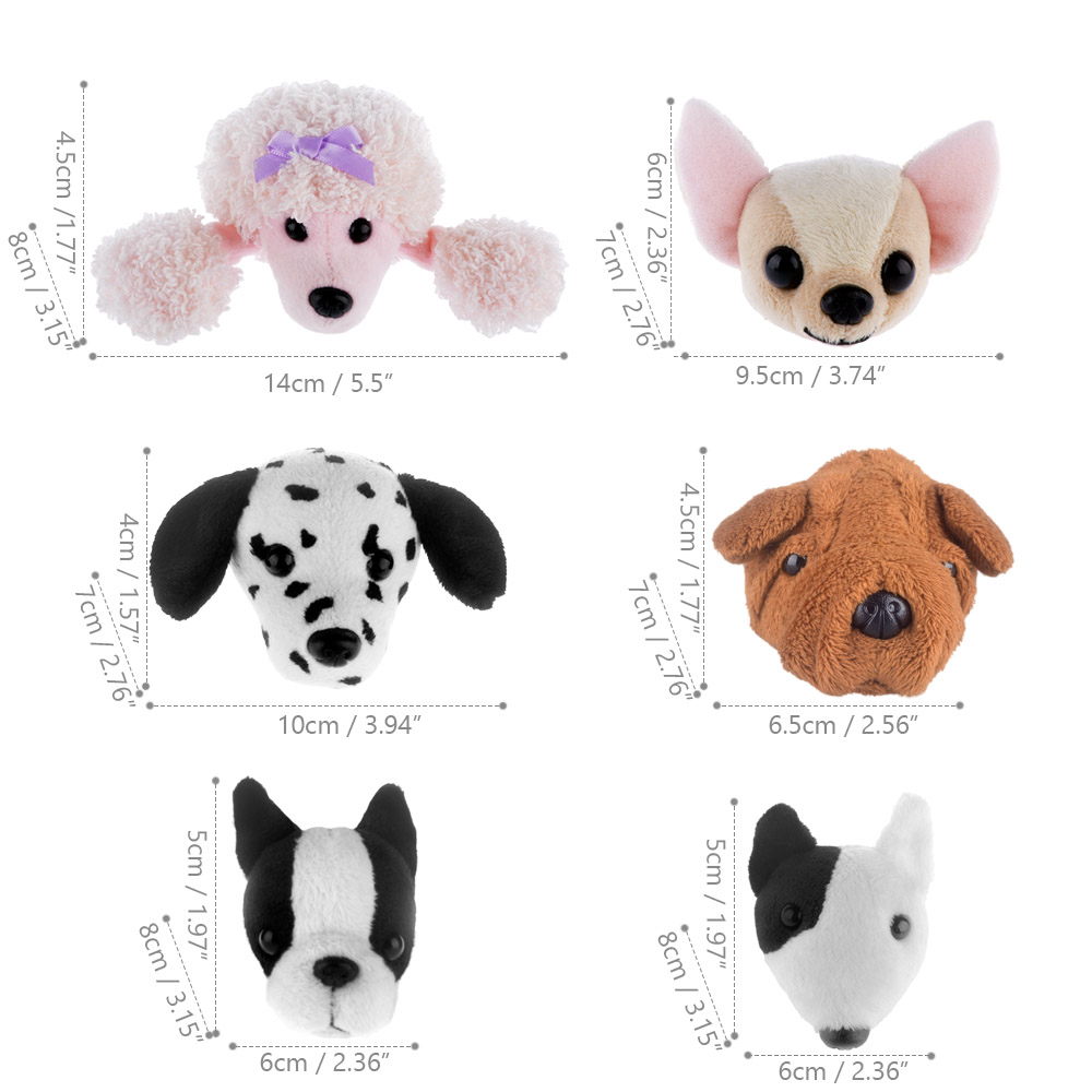 dog head size