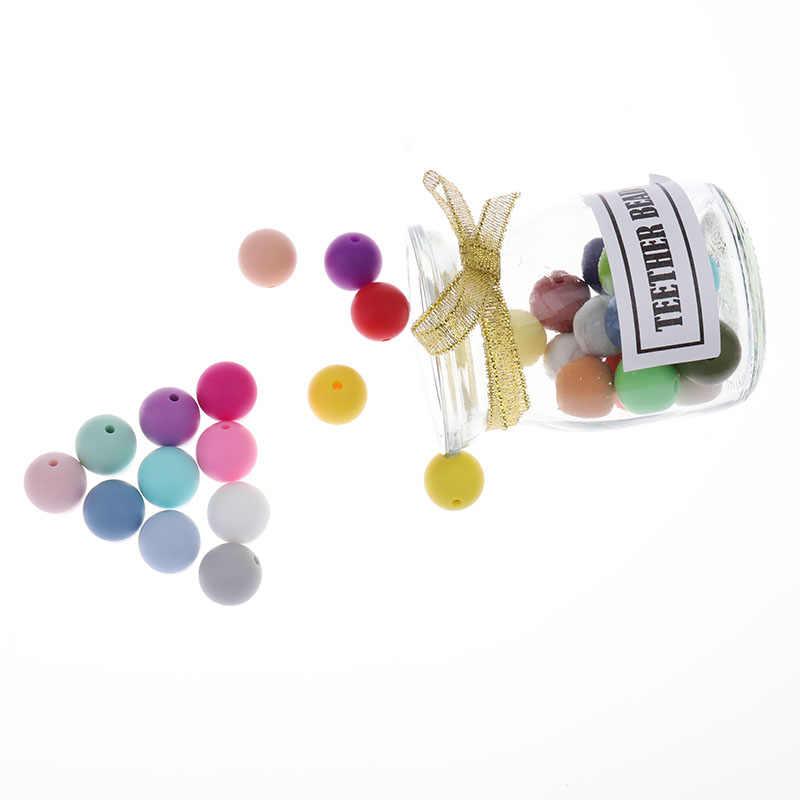 12 мм Круглый 50 шт силиконовый шарик Bpa Бесплатная детская жевательная