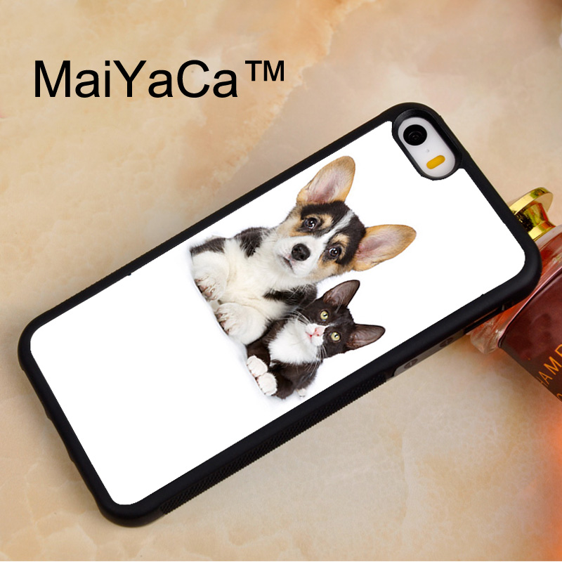 Active Maiyaca Welsh Corgi Puppy And Cat Soft Tpu Phone Case For Iphone 5 5s Rubber Back Cover For Iphone Se Phone Bag Case Cover Bringing More Convenience To The People In Their Daily Life