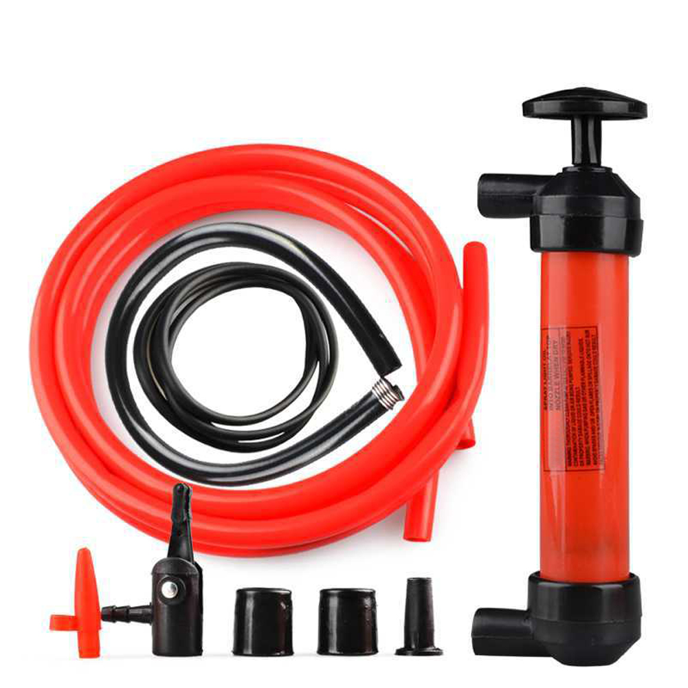 Newest Car styling Portable Car Siphon Hose Liquid Oil Gas Water Transfer Hand Pump Sucker Plastic Pipe Manually Pump The Liquid цена 2017