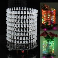 Colorful RGB Dream Light Circle 5mm LED DIY Kit Light Cube DIY Kit With Shell Music Spectrum Module 8x32 Dot Matrix for Gift