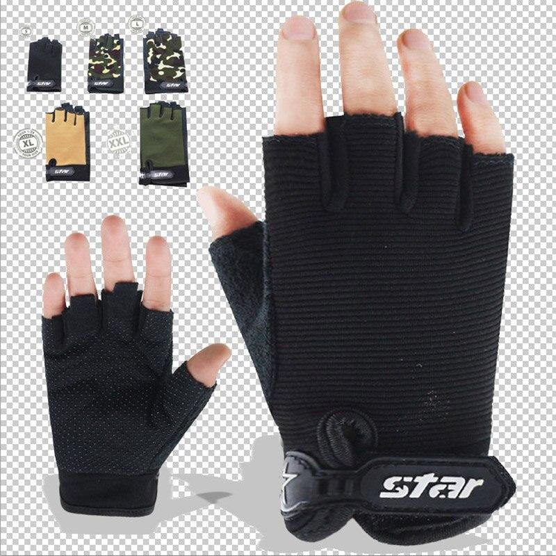 Fitness Gloves Male Dumbbell Equipment Horizontal Bar Exercise Wrist Training Half Finger Bicycle Anti-skid Sports Gloves B58