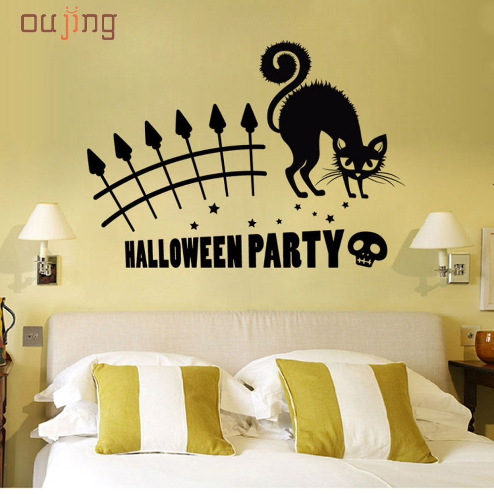Attractive Halloween Wall Decorations Composition - The Wall Art ...