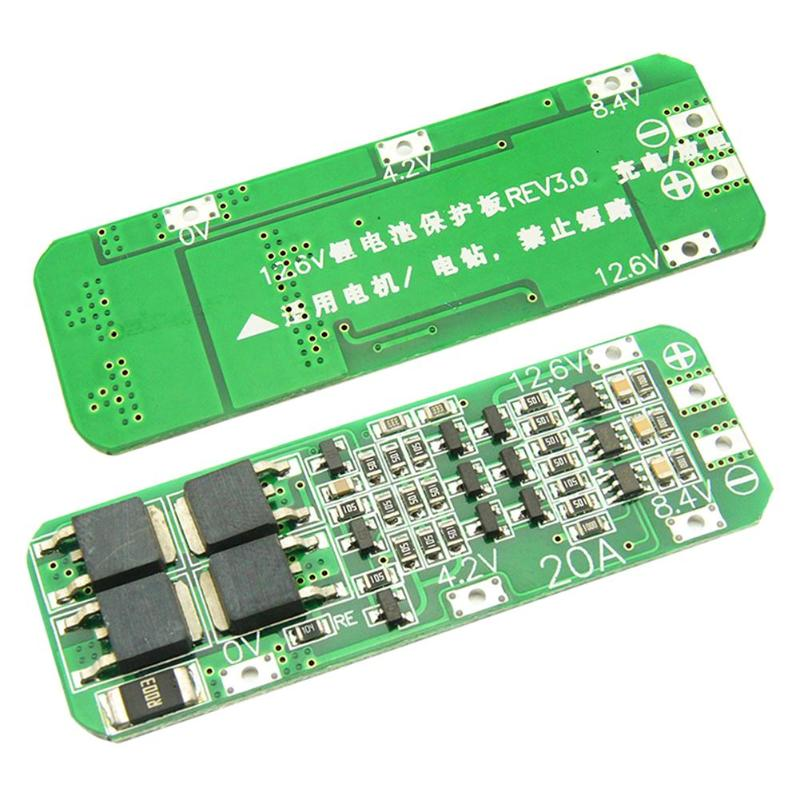 3S 20A Li-ion Lithium Battery 18650 Charger PCB BMS Protection Board with Balance For Drill Motor 12.6V Lipo Cell Module
