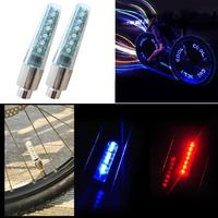 Mountain Bike Road Bicycle Lights LED Tire Valve Red  Blue Plugs LED 5.7cm Double-sided Sensor