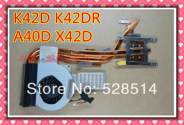 Original radiator and cpu fan for ASUS K42D K42DR K42DE K42N K42 x42D x42j(for AMD) P/N: KSB0505HB-AA83 free shipping