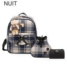 배낭 여성 격자 무늬 배낭 캔버스 꽃 학교 가방 학교 백팩 어깨 가방 10 대 소녀 패션 가방 지갑