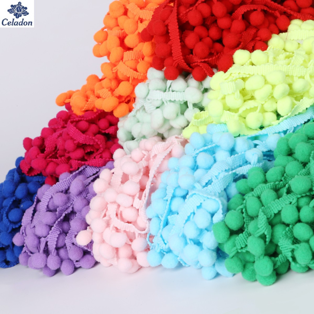 5Yards 20mm Pom Pom Trim Ball Fringe Ribbon Sewing Accessory Lace DIY In CA