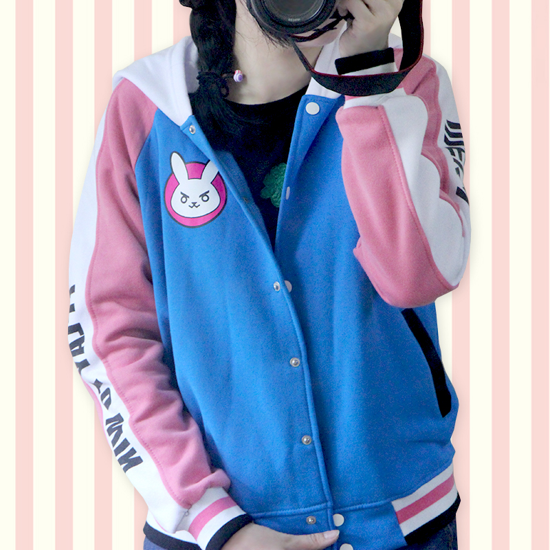 OW Coat D VA Winter coat hoodie coat cosplay coat cute costume suit 2