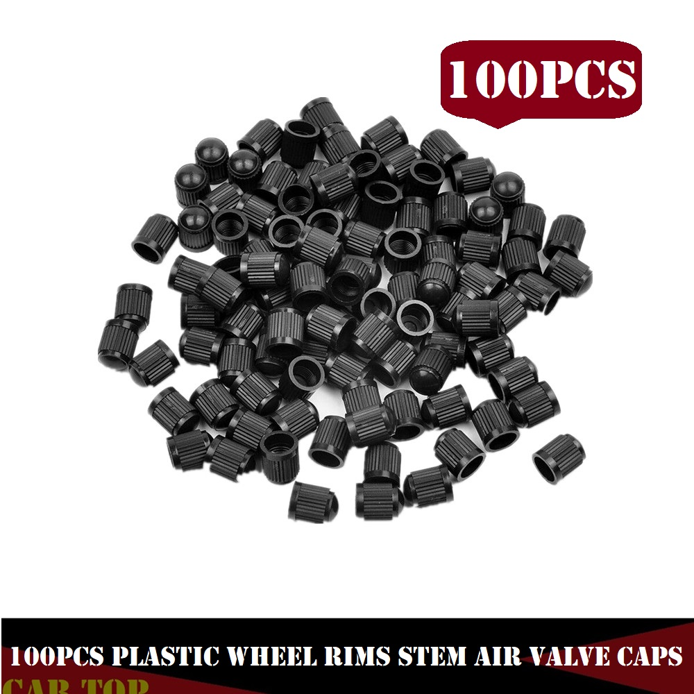 100PCS Tire Valve Caps Tubeless Tyre Wheel Stem Air Valve Caps Car Tire Valve Cap Auto Truck Bike MTB Dust Dustproof Caps
