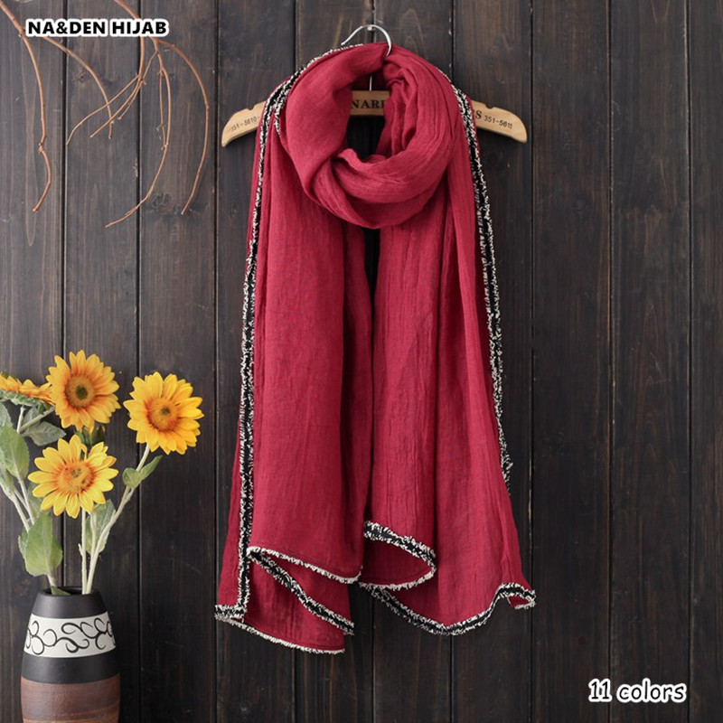 2018 plain fur border design scarf women big pashmina solid scaves and shawls islamic hijab scarfs soft bandana 11 colors