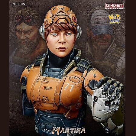 1/10 BUST Resin Figure Model Kit Character Mechanical Sergeant Three Generations Female Martina X71