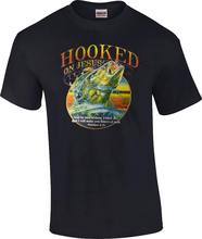 Christian Hooked on Jesus I Will Make You Fisher of Men Matthew 4:19 T-Shirt  Free shipping Tops Fashion Classic Unique gift