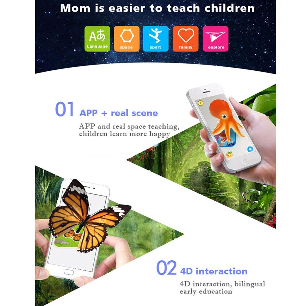 68pcs Magic 4d Flashcards Ar Animals Early Childhood Memory Matching Giant Flashcard 68