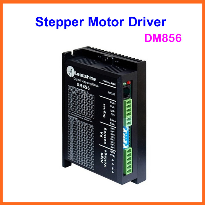 Leadshine DM856 Stepper Motor Driver Digital Hybrid Stepper Drive 80VDC/5.6A for cnc leadshine stepper motor driver 3dm 683 3 phase digital stepper drive max 60vac 8 3a