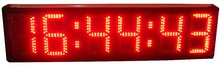 Semi-outdoor double side 8inch height character red  color hours,minutes and seconds LED clock (HST6-8R)