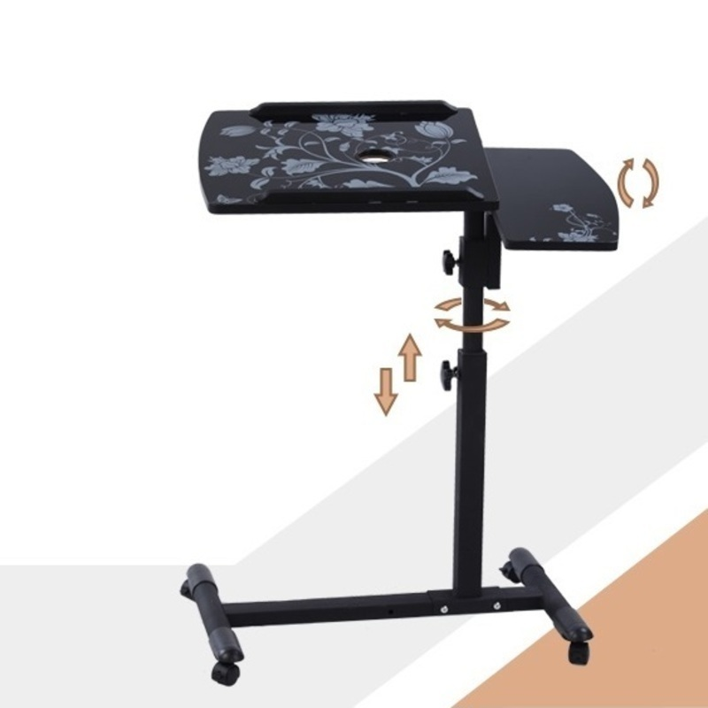DG#7465 with simple household mobile rotary bedside table Yi Amoy lazy notebook Comter desk on bed FREE SHIPPING high quality simple notebook computer desk household bed table mobile lifting lazy bedside table office desk free shipping