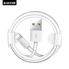 цена на KALUOS Original USB Data Sync Cable for iPhone 5 5S 6 6S 7 8 Plus Fast Charging 3m USB Cable for iPhone X XS Max XR Charger Wire