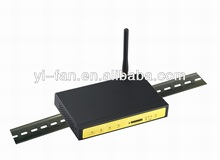 F3125 industrial VPN gsm gprs router with Din Rail mounting  for ATM, photo voltaic PV initiatives