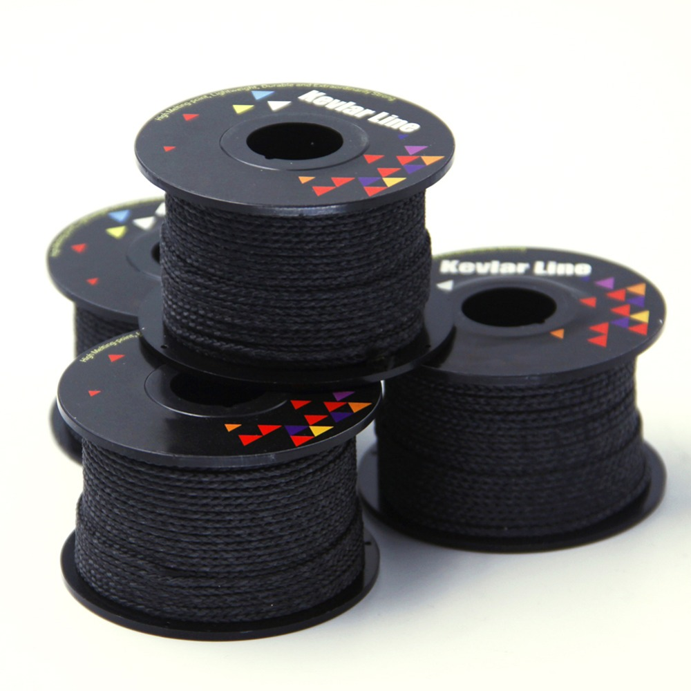 100ft 500lb Black Kevlar Line With Core Braided Fishing Line Super Strong Outdoor Flying Kite Line Rope Free Shipping 5