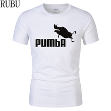 c535ff41255 RUBU 2017 new brand PUMBA Lion King t-shirt cotton tops tees men short  sleeve boy casual homme t shirt plus fashion t shirt
