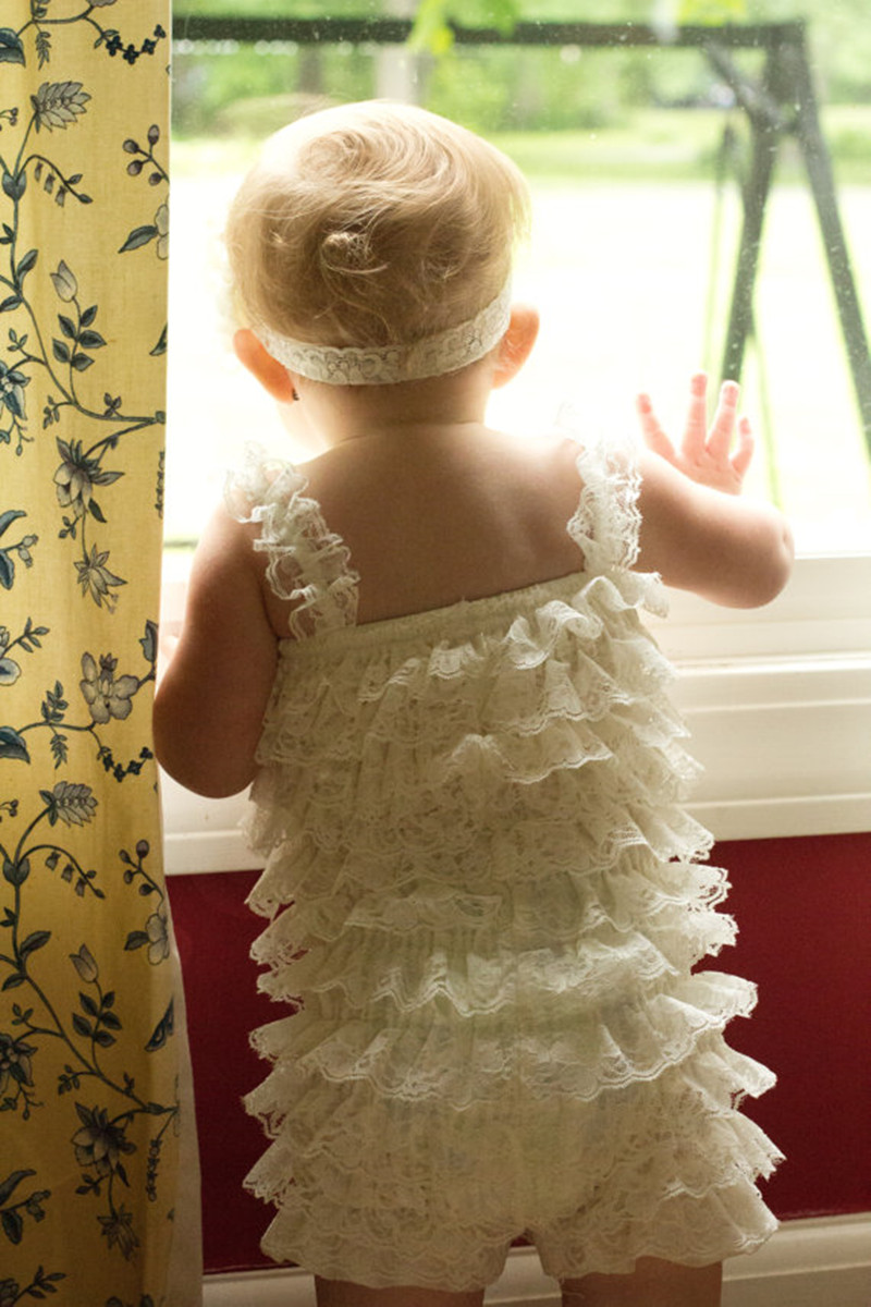 3ae6f32c317a Free Shipping Baby Girl Clothes Ivory Lace Romper petti Romper Lace Ruffle  Romper for Infant Toddler Girls-in Rompers from Mother   Kids on  Aliexpress.com ...