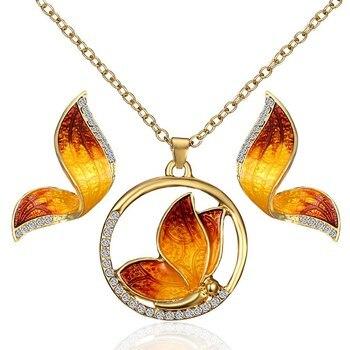 Women's Butterfly Design Jewelry Set Hot Promotions Jewelry Jewelry Sets Women Jewelry Metal Color: 4