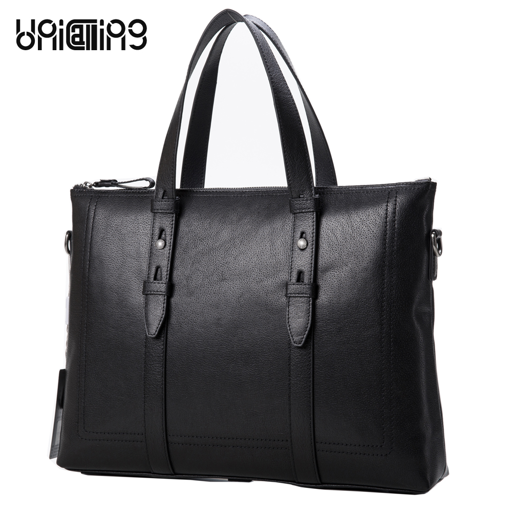 Men s leather briefcase bag high quality real cow leather male briefcase genuine leather font b