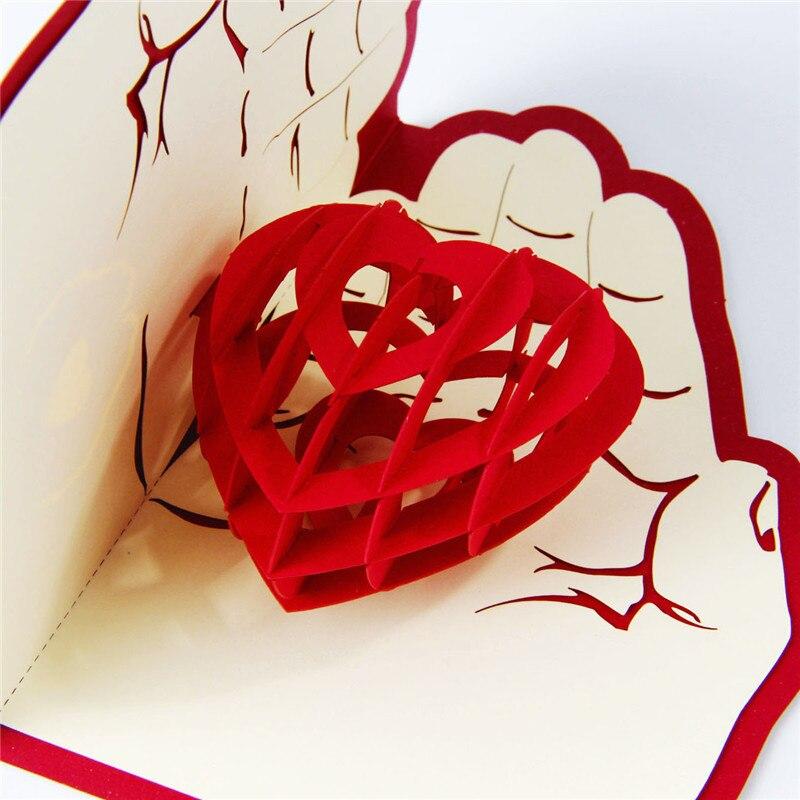 Dreidimensionalen Grußkarten 3d Pop Up Handgemachte Hochzeit Dekoration Valentinstag  Gratulieren Karte In Dreidimensionalen Grußkarten 3d Pop Up ...