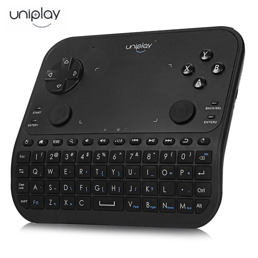 Uniplay U6 смарт-геймпад ручка 2.4 г Беспроводной Дистанционное Управление клавиатура Мышь наушники с микрофоном шесть в одном plug and play