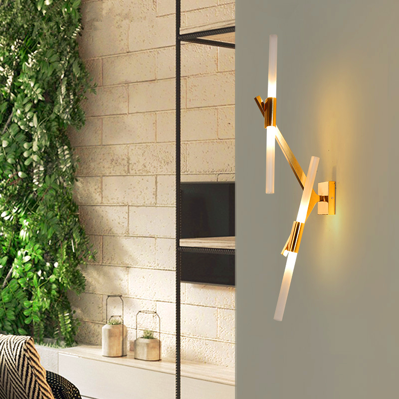 Modern wall lamps LED lighting fixtures nordic luminaires living room wall sconces bedroom illumination novelty aisle Wall light led modern aisle wall sconces living room wall lights nordic restaurant lighting bedroom fixture novelty stairs wall lamps