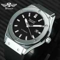 JARAGAR Sports Automatic Mechanical Mens Watches Top Brand Luxury Military Punk Wristwatches Montre Homme Rubber Strap Clock