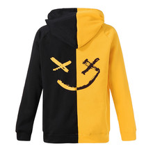 Unisex Teen's Smiling Face Fashion Print Hoodie Sweatshirt