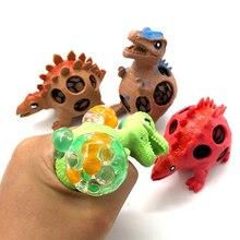1pcs Hot Sale Soft Squishy Dinosaur Model Slow Rising Grape Mesh Venting Balls Toys Anti-stress Funny Extrusion Toy Random Color
