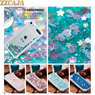 ZZCAJA For Apple iPod Touch 6 Case Luxury Glitter Shiny Dynamic Liquid Quicksand Anti-knock Shockproof Cover For iPod Touch 5
