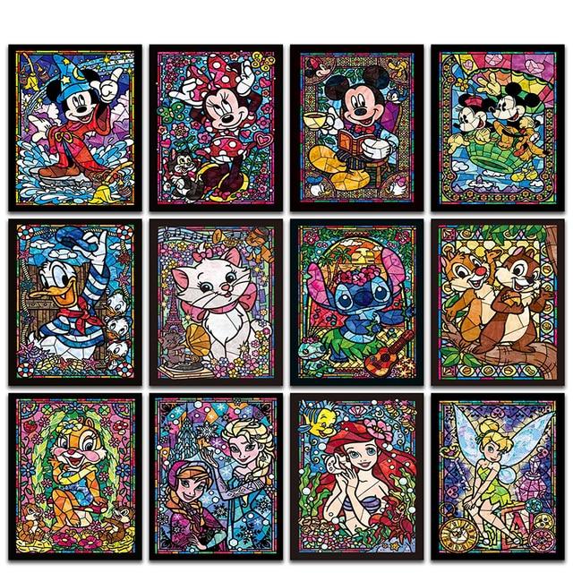 """Pełny Kwadrat/Okrągły Wiertła 5D DIY Diament Malarstwo """"postaci z Kreskówek Księżniczka myszy"""" Haft Cross Stitch Mozaika Rhinestone MK"""