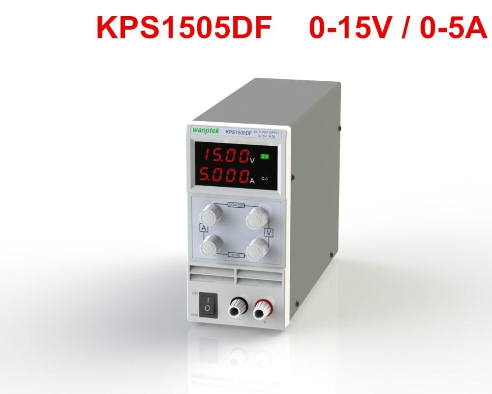 4 LED DIGIT KPS1505DF 15V5A 110V-230V EU LED Digital Adjustable Switch DC Power Supply mA display 100 pcs ld 3361ag 3 digit 0 36 green 7 segment led display common cathode