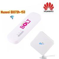 1000pcs Unlocked Huawei E8372 150Mbps 4G LTE Wifi Modem E8372h 153 + 4G Signal Amplifier Antenna 35dBi TS9 For HUAWEI E8372