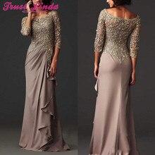 Платья для выпускного вечера кружевные прозрачные платья для матери невесты официальные арабские платья для вечеринок с длинным рукавом на заказ