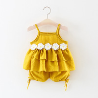 Summer Baby S Sets Baby Girl Clothes Sleeveless Top Bloomer Shorts Sets Cotton Ruffle Outfits Girls
