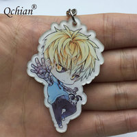 Hot Anime One Punch Man Keychian for Men Saitama Genos tatsumaki cute Key Chains Ring Holder 3