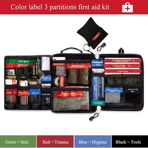 Protable First Aid Kit Safe Wilderness Survival Lightweight Medical Bag Emergency Kit for Home Car Travel Outdoor Camping Hiking