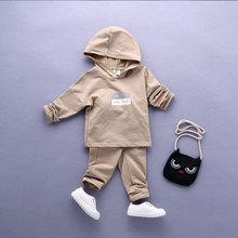 Fashion Spring Autumn infant baby clothes suit long sleeved boys girls hoodie+pants 2pcs kids unisex clothing set baby pajamas