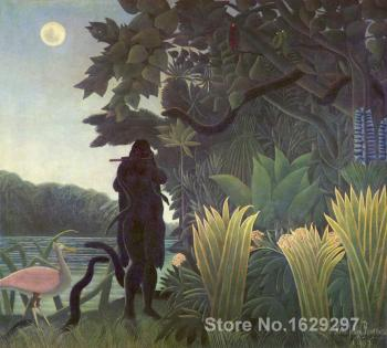 Modern landscape painting The Snake Charmer Henri Rousseau High quality Hand painted